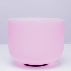 bol en cristal rose 20 cm 1