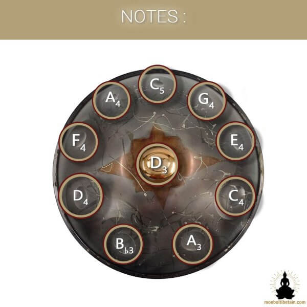 handpan 10 notes crepuscule monboltibetain