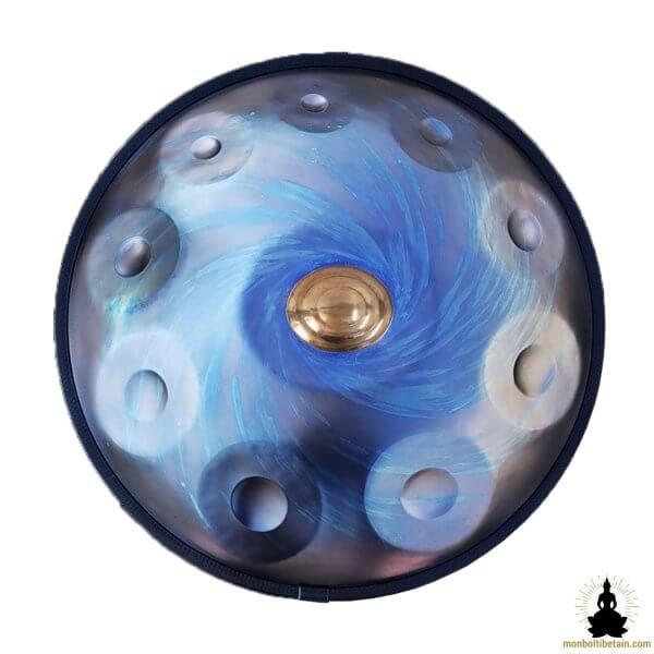 handpan 10 notes steel blue monboltibetain