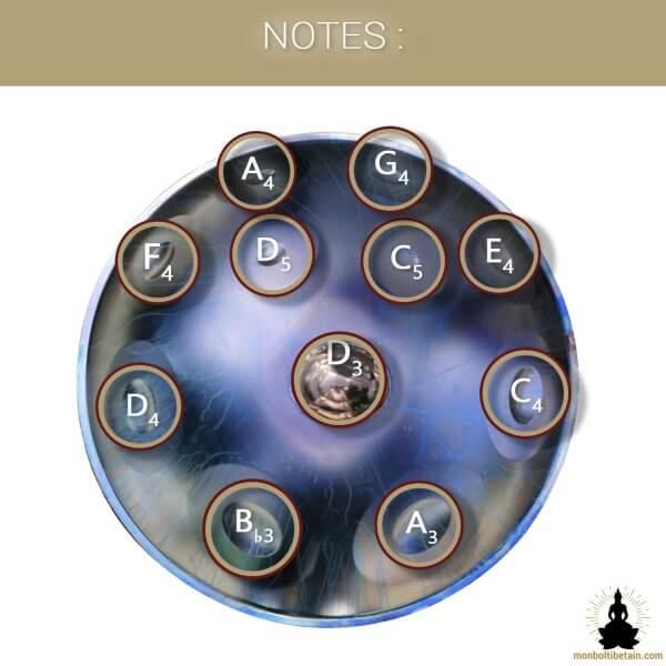 handpan 11 notes deep space monboltibetain