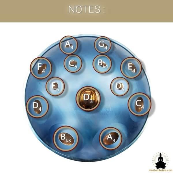 handpan 13 notes étoile polaire