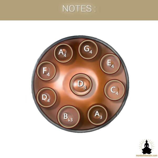 handpan 9 notes cuivre monboltibetain