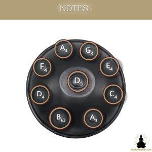 handpan 9 notes noir obscur monboltibetain