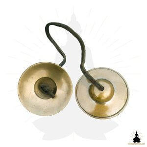 Cymbales Tingshas Bronze Traditionelles - monboltibetain
