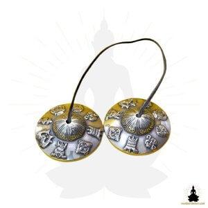 cymbales tibetaines tingshas bronze 8 symboles mon bol tibetain (1)